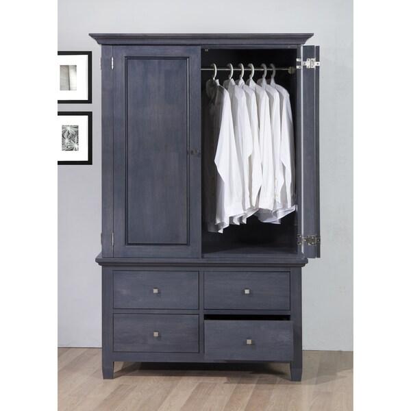 Bedroom Wardrobe Armoire Clothes Storage Closet Cabinet ...