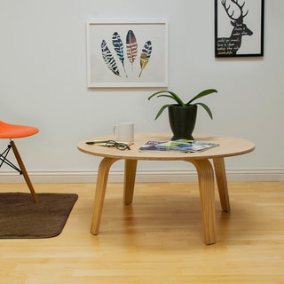 Molded Plywood Walnut Coffee Table And Lounge Chair Set