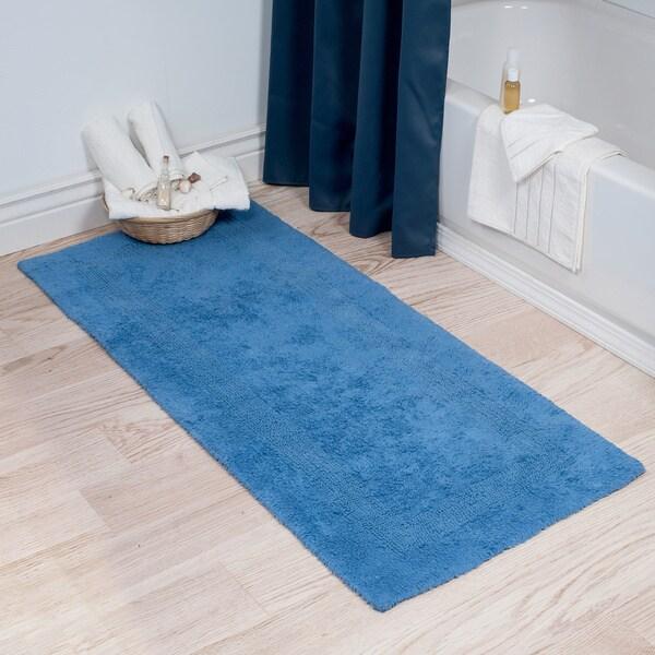 Windsor Home 100 Percent Cotton Reversible Long Bath Rug