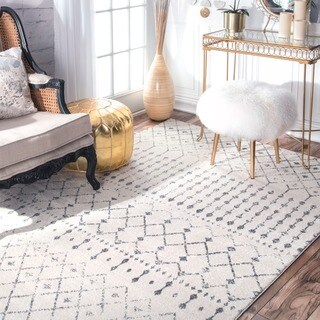 The Curated Nomad Ashbury Moroccan Trellis Ivory Rug - 8' x 10'