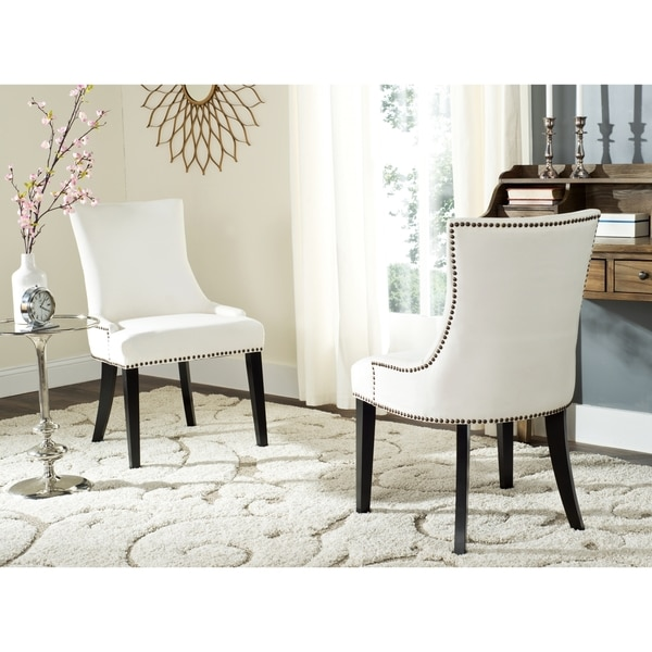 Safavieh En Vogue Dining Lester White Side Chairs (Set Of