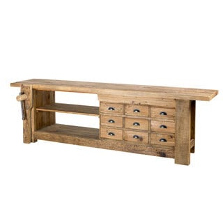 Reclaimed Teak Wood And Steel Bench India 13661723