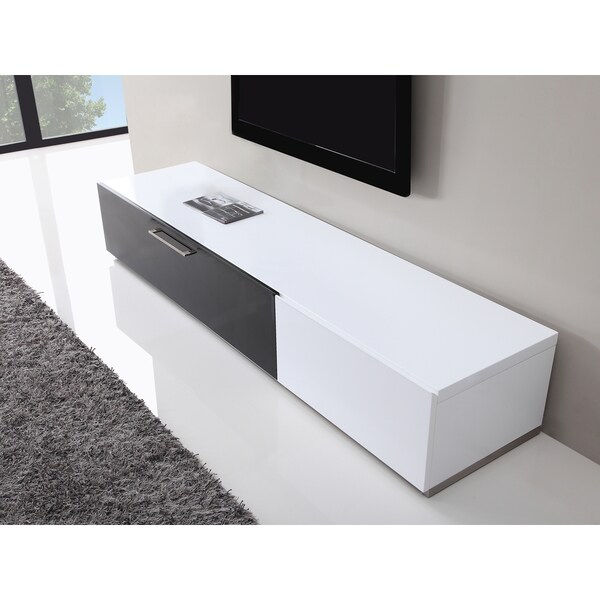 b modern producer white black modern tv stand with ir glass 17473911 shopping. Black Bedroom Furniture Sets. Home Design Ideas
