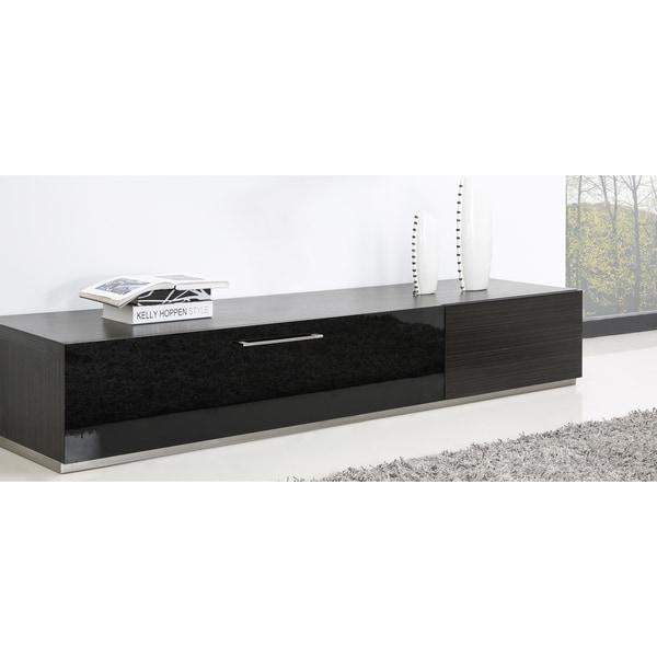 B Modern Producer Grey Ebony Black Steel Modern Tv Stand