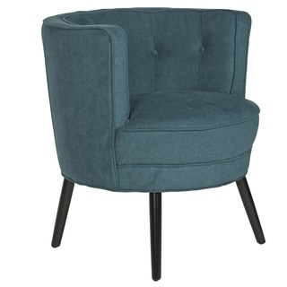 Ansley Peacock Blue Tub Chair 14605953 Overstock Com