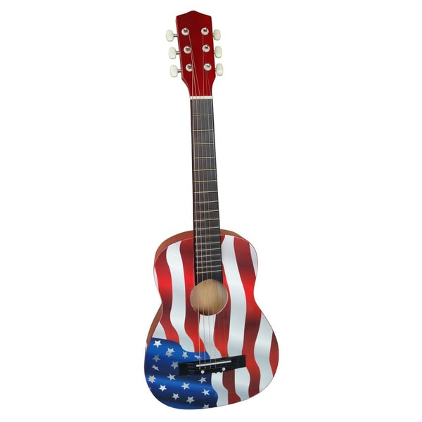ready ace 30 inch american flag acoustic guitar 17480271 shopping great. Black Bedroom Furniture Sets. Home Design Ideas