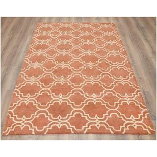 Tile Mauve Brown Rug 5 X 8 12435468 Overstock Com