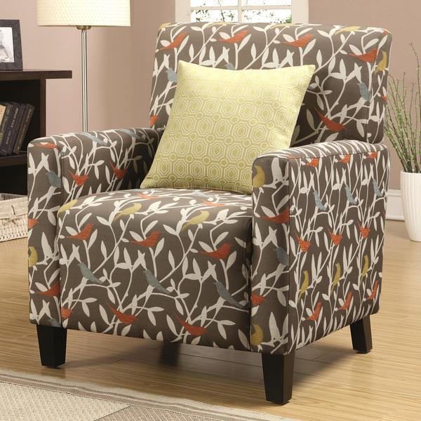 Casual Artistic Multi Color Bird Design Living Room Accent