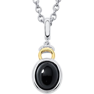 Sterling Silver Black Onyx And 1 10ct Tdw Diamond Necklace J K I1 I2 12693835 Overstock Com Shopping Top Rated Malin Mila Gemstone