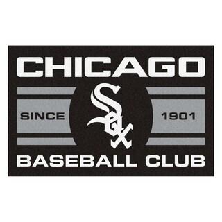 Fanmats Chicago White Sox Black Nylon Uniform Inspired Stater Rug (1'6 x 2'5)
