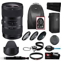 Sigma 18 - 35mm F1.8 DC HSM Zoom Lens for Canon DSLR Cameras with Accessory Bundle