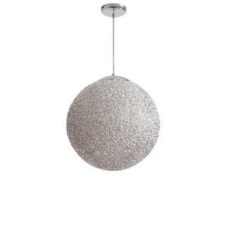 Dainolite 2-light 20'' Diameter Acrylic Pendant in Chrome with Polished Chrome Hardware