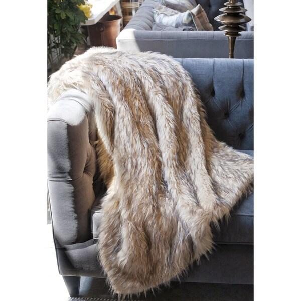 Lynx Faux Fur Throw 17491870 Overstock Com Shopping