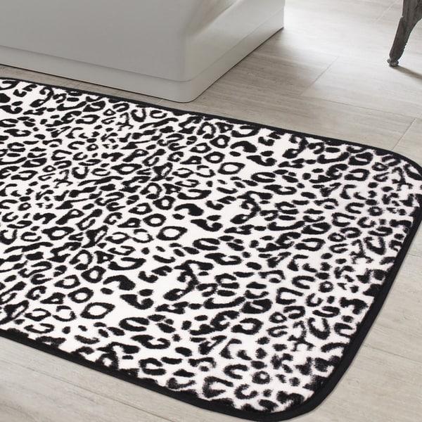 Exotic Snow Leopard Print Quick Dry Memory Foam Bathroom
