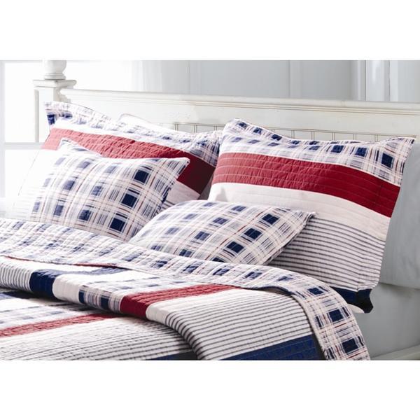 Greenland Home Fashions Nautical Stripe King Sized Pillow