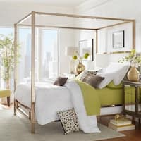 Solivita King-size Canopy Champagne Gold Metal Poster Bed by iNSPIRE Q Bold