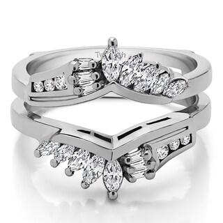 TwoBirch 18k Gold 1 7/8ct TDW Diamond Chevron Anniversary-style Ring Enhancer
