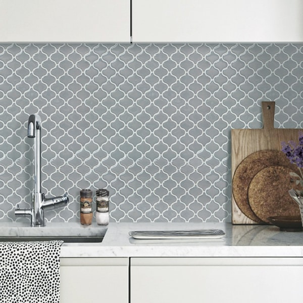 BeausTile Grigio 4-piece Decorative Adhesive Faux Tile