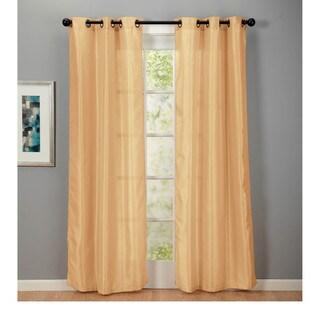 Eff Grape Cotenza Faux Cotton Grommet Curtain Panel