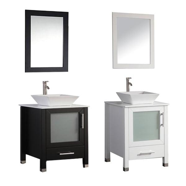 Mtd Vanities Malta 24 Inch Single Sink Bathroom Vanity Set With Mirror And Faucet 17511400