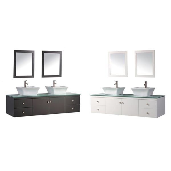 MTD Vanities Nepal 72-inch Double Sink Wall Mounted ...