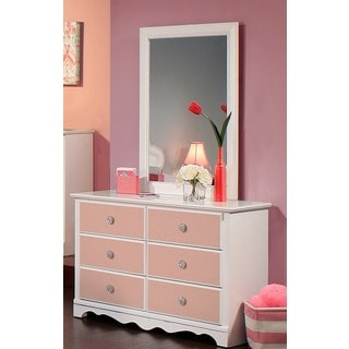 Lake House Stone Grey 8 Drawer Dresser With Mirror