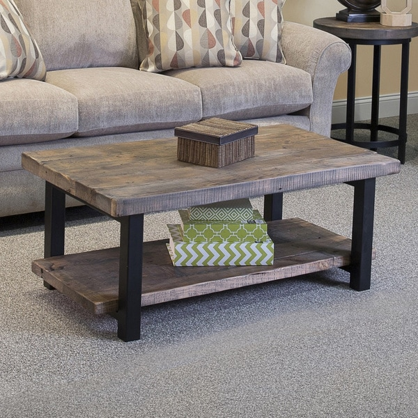 Natural Coffee Tables: Alaterre Pomona Rustic Natural Coffee Table