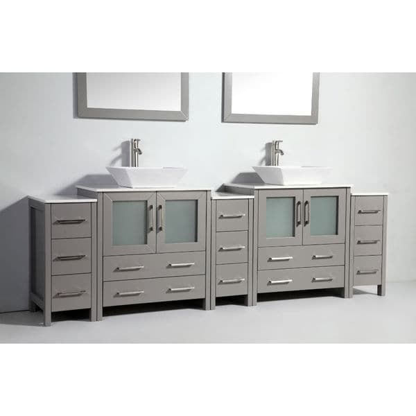 96 Inch Bathroom Vanity Home Depot: Legion Furniture 96-inch Solid Wood Double Sink Vanity