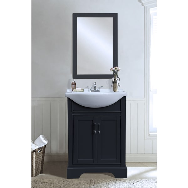 Legion Furniture 24 Inch Dark Grey Single Sink Vanity With