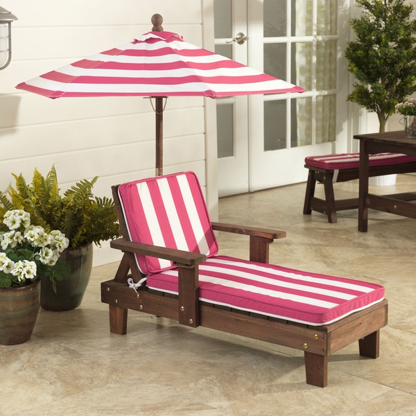 Kidkraft Pink White Outdoor Chaise Lounger 17522732