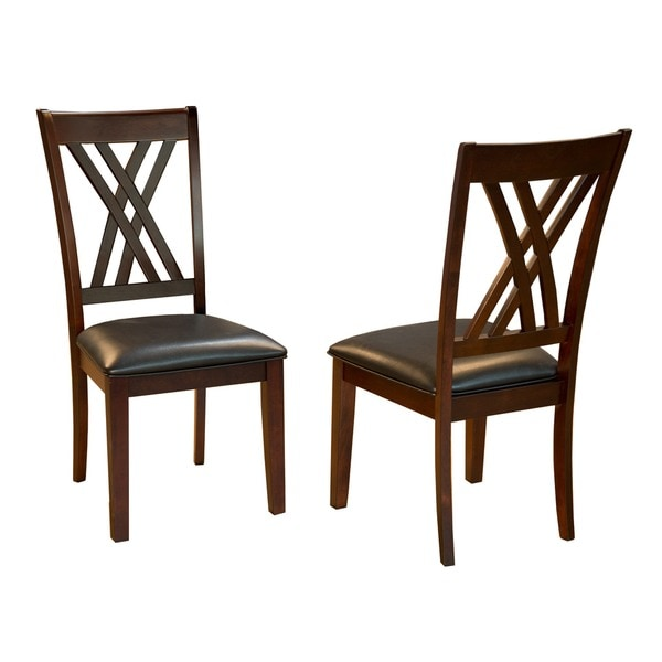 Simply Solid Asha Double X Back Dining Chairs Set Of 2