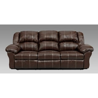 Witiker Bonded Leather Brown Dual Reclining Sofa Reviews