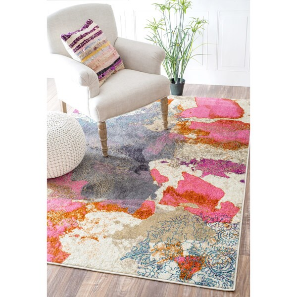 Nuloom Abstract Vintage Fancy Multi Rug 5 3 X 7 7