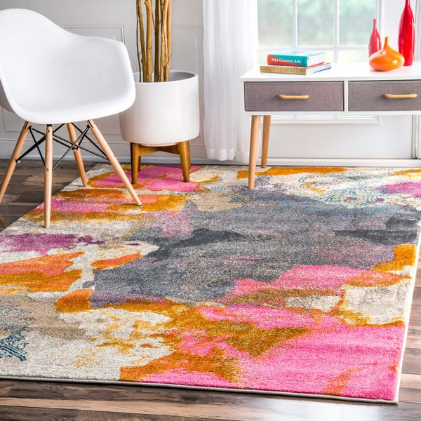 Nuloom Abstract Vintage Fancy Multi Rug 7 10 X 10 10