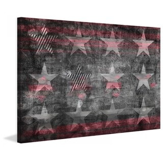 American Flag Peace Canvas Wall Art 15245523 Overstock