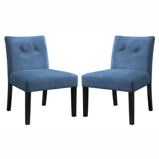 Cortesi Home Chicco Blue Armless Accent Chair 16172707