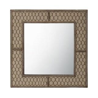 Doniea Dark Brown Wood Framed 31 5 Inch Square Mirror
