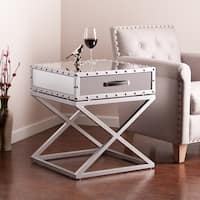 Silver Orchid Olivia Glam Mirrored Accent Table