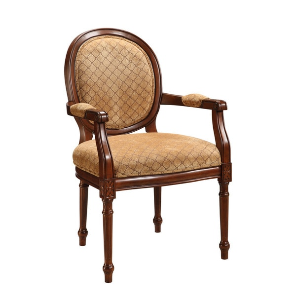Treasure Trove Accents Brown Diamond Pattern Accent Chair