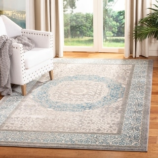 Safavieh Patina Grey Blue Cotton Rug 9 X 12