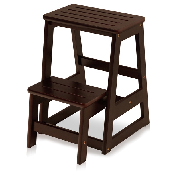 Solid Wood Folding Step Stool 17573079 Overstock Com