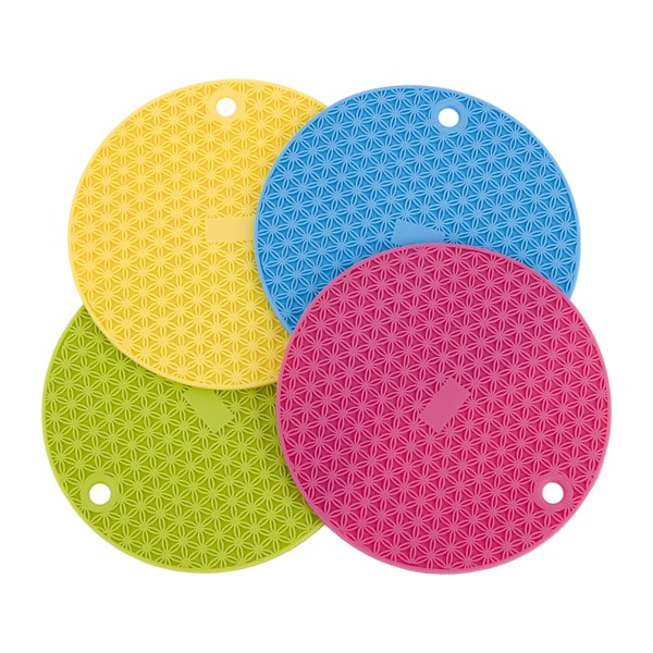Pot Holder Svg: Miu France Silicone Trivet/ Pot Holders (Set Of 4