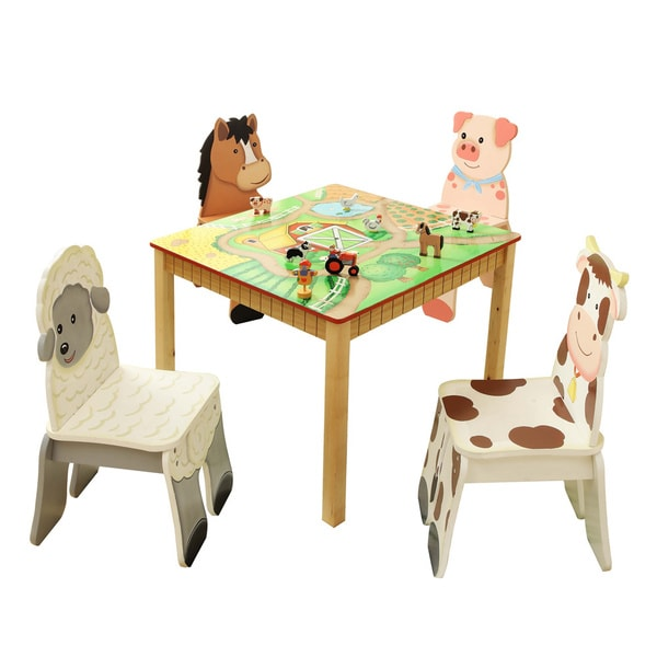 Fantasy Fields Happy Farm Table Amp Set Of 4 Chairs