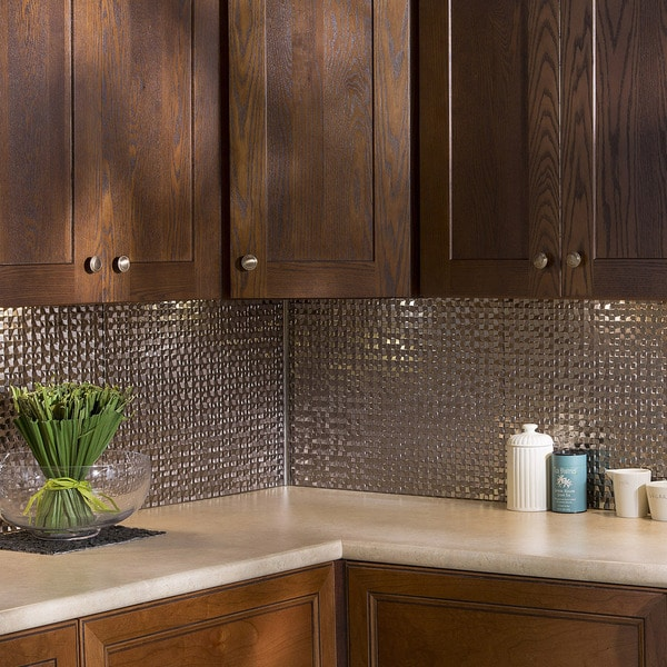 Fasade Terrain In Brushed Nickel Backsplash 18 Square Feet