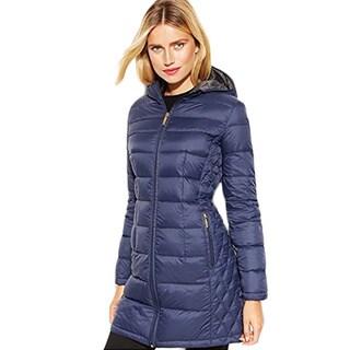 53ac10b0345 review detail Michael Michael Kors Blue Gray Down Packable Puffer Coat