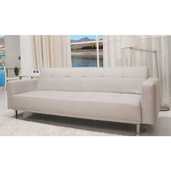 Sb 9016 Contemporary Home Design Beige Fabric Sofa Bed
