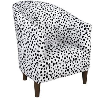 Inspire Q Black Amp White Faux Cow Hide Fabric Accent Chair