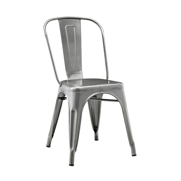 Metal Cafe Chair Gun Metal 17605241 Overstock Com