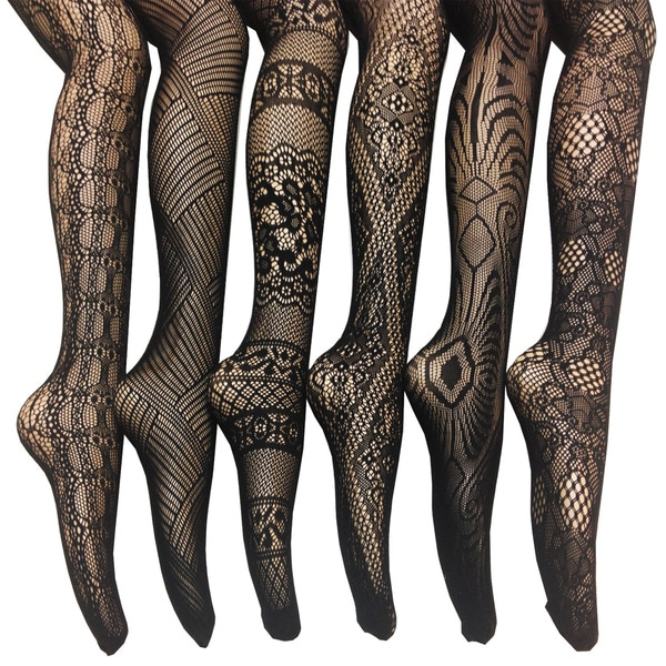 Women S Fishnet Lace Stocking Tights Pack Of 6