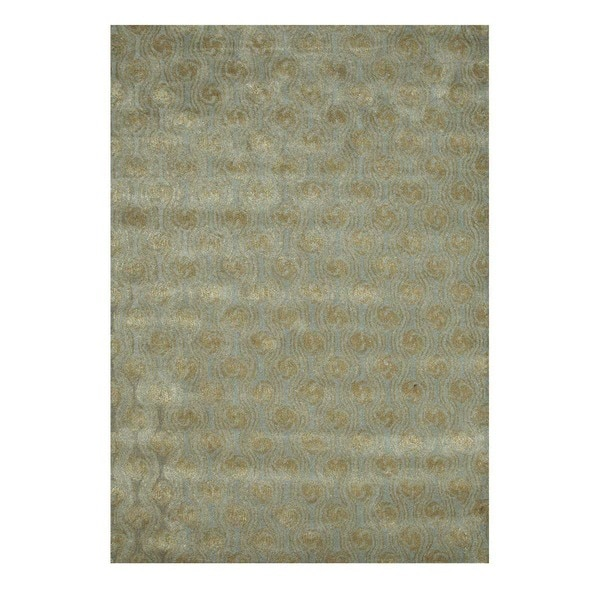 Hand-Tufted Contemporary Soft Mint/Apple Green Wool